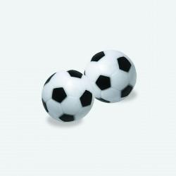 Plastik 2 Stück 35,5 mm Fußball Tischfußball Ball Fussball game schwarz weiß